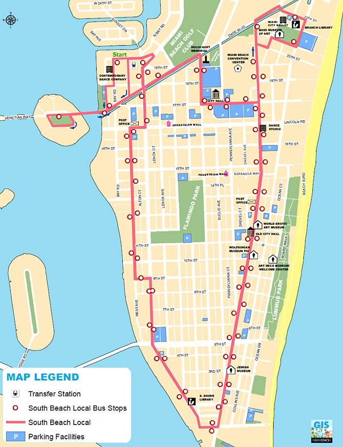south beach local bus route