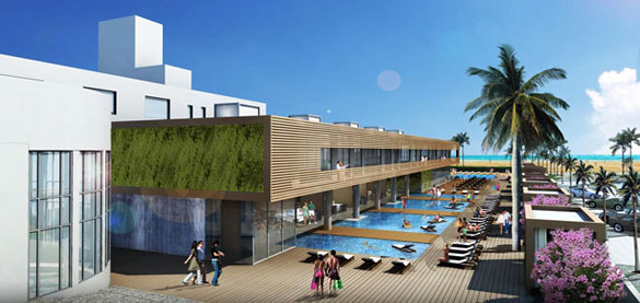 Sls Hotel At South Beach Pool Deck Rendering